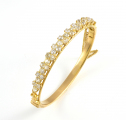 18ct Gold Antique Diamond Bangle