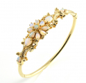 9ct Gold Opal Bangle