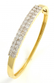 18ct Gold Diamond Bangle