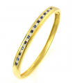 18ct Gold Sapphire and Diamond Bangle