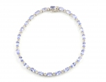 9ct White Gold Tanzanite and Diamond Bracelet