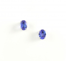 9ct White Gold Tanzanite Studs