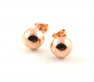 9ct Rose Gold 7mm Button Studs
