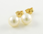 9ct Gold Pearl Studs