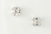 18ct White Gold Diamond Cluster Studs