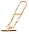 15ct Rose Gold Albert Watch Chain