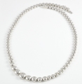 18ct White Gold Graduated Diamond Necklace