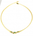 18ct Gold Emerald and Diamond Five Stone Collar