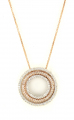 14ct White and Rose Gold Diamond Circle Pendant