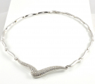 18ct White Gold Diamond Collar