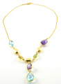 18ct Gold Multi Stone Necklace