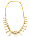 9ct Gold Pearl Fringe Necklace
