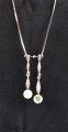 18ct White Gold Antique Diamond and Pearl Necklace