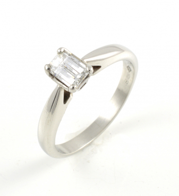 f5f7c4d99cf08d Platinum Millennium cut diamond single stone ring