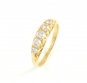 18ct Gold Antique Diamond Five Stone Ring