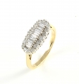 9ct Gold Diamond Wide Cluster Ring
