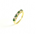 18ct Gold Emerald and Diamond Half Eternity