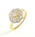 9ct Gold Diamond Plaque Ring