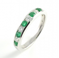 9ct White Gold Emerald and Diamond Eternity Ring