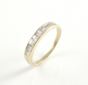 18ct White Gold Millennium Cut Diamond Half Eternity Ring