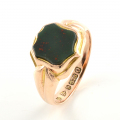 9ct Rose Gold Bloodstone Signet Ring