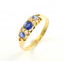 18ct Gold Sapphire and Diamond Seven Stone Ring
