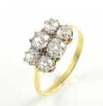 18ct Gold Six Old Cut Diamond Ring