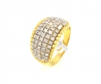 18ct Gold Wide Diamond Ring