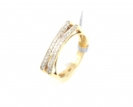 9ct Gold Two Row Diamond Ring