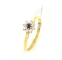 18ct Gold Sapphire and Diamond Cluster Ring