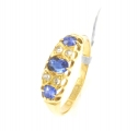 18ct Gold Antique Sapphire and Diamond Ring