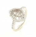 18ct White Gold Marquise Shape Diamond Cluster Ring