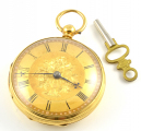 18ct Gold Open Faced Pocket Watch