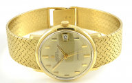 18ct Gold Gents Universal Polerouter Automatic Watch